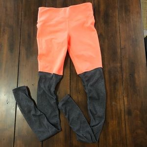 ALO Yoga Goddess Leggings Orange Gray Size XS